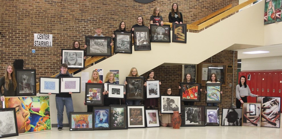 High School Students going to the State Art Show